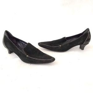 🔷Donald J Pliner🔷 Suede Loafers w heel - size 11